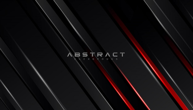 Geometric shape futuristic technology red black motion line abstract background