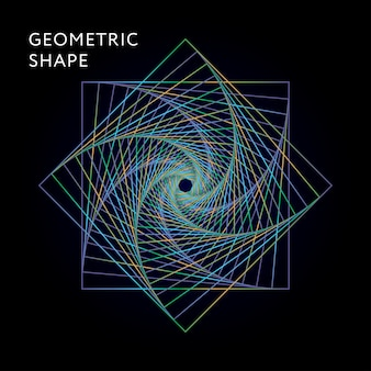 Geometric shape  graphic illustration gradient
