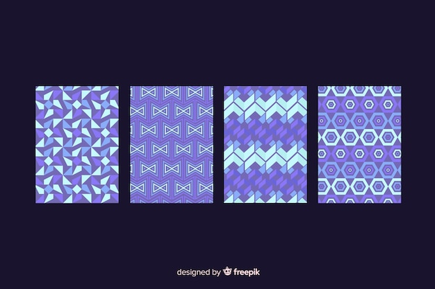 Geometric shape pattern cover collection