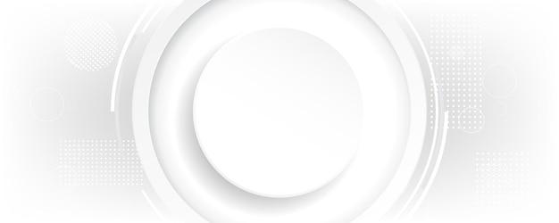 기하학적 모양 영역 흰색 배경 웹 배너 광고 제품에 대 한 장식 기술 라인 배경 가로 템플릿.