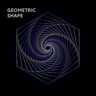 Geometric shape vector graphic illustration gradient