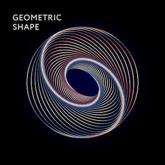 Geometric shape vector graphic illustration gradient
