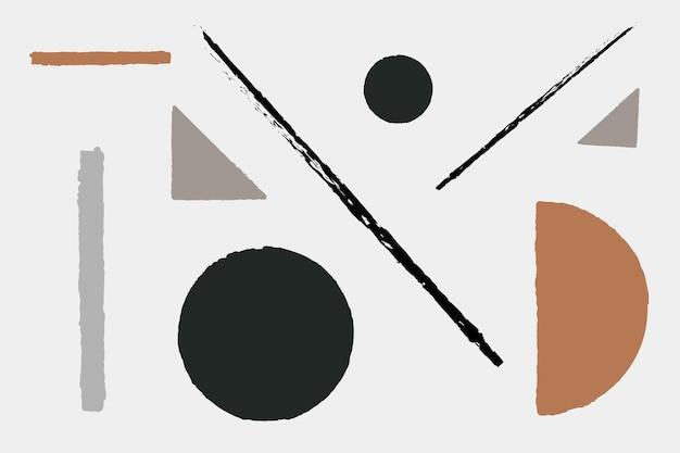 Вектор геометрической формы в земных тонах