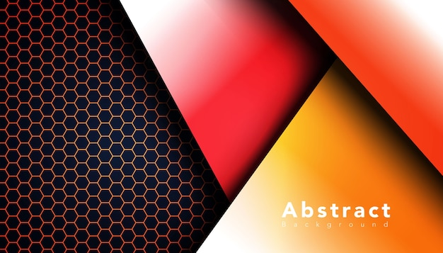 Geometric shape with hexagon pattern background