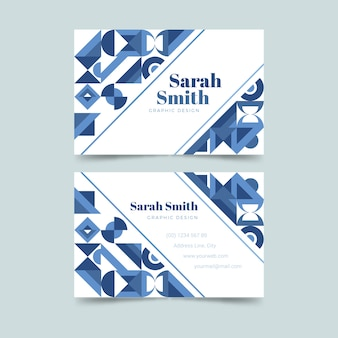 Geometric shapes abstract business card template