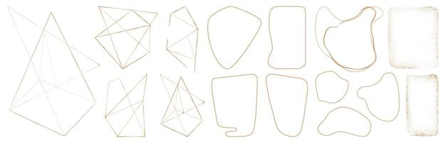 Геометрические формы абстрактные золотые линии блеск