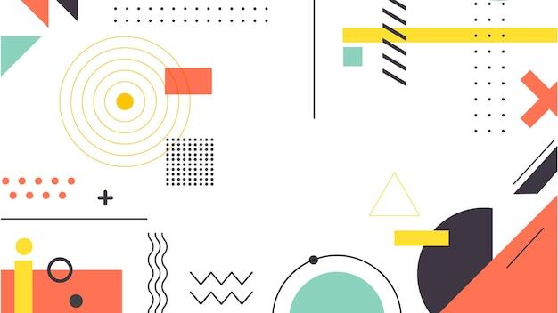 Геометрические фигуры и мемфис фон