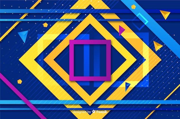 Geometric shapes background design