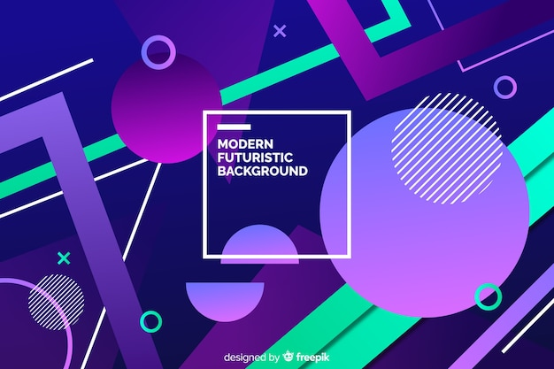 Geometric shapes background design