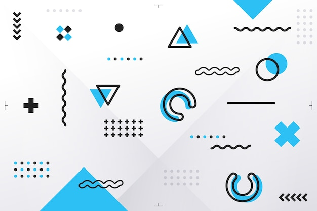 Geometric shapes background in flat design