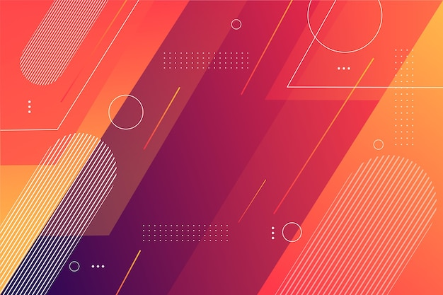 Geometric shapes background in gradient