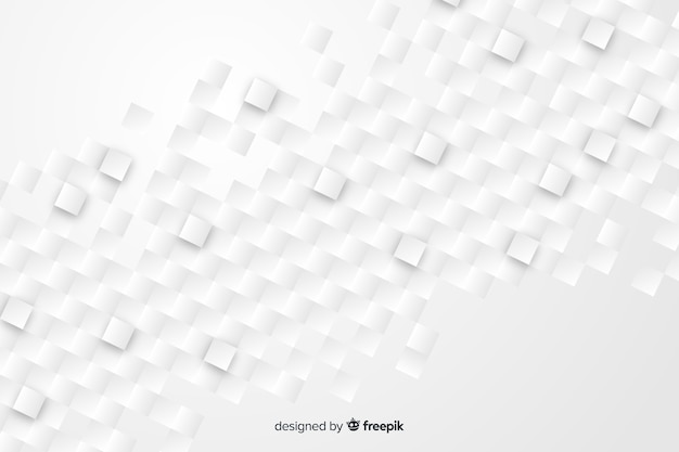 Geometric shapes background in paper style