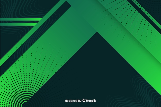 Geometric shapes background with gradient