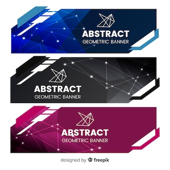 Geometric shapes banner pack