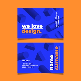 Geometric shapes business card template