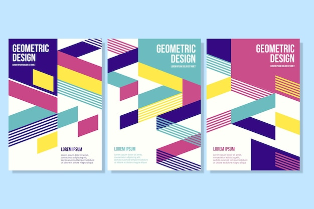 Geometric shapes on business cover collection