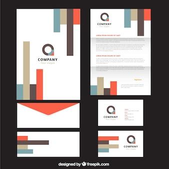 Geometric shapes business stationery