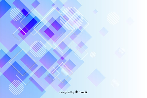 Geometric shapes collection background