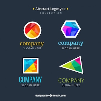 Geometric shapes colorful logotypes