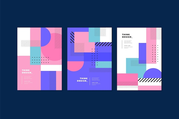 Geometric shapes cover pack