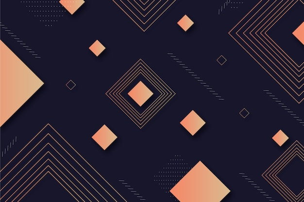 Geometric shapes on dark background