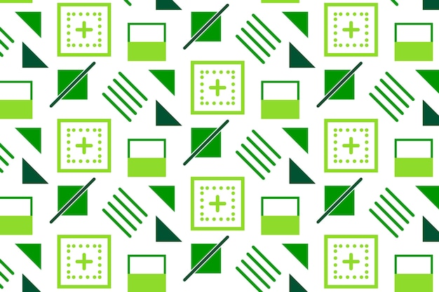 Geometric shapes flat background
