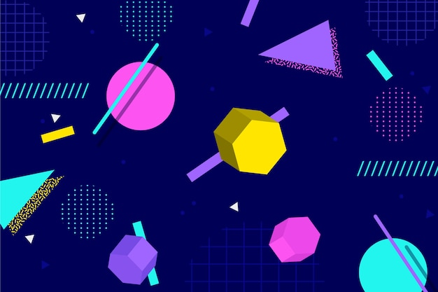 Geometric shapes in flat design