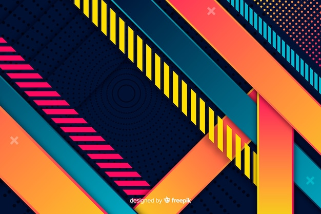Geometric shapes gradient background