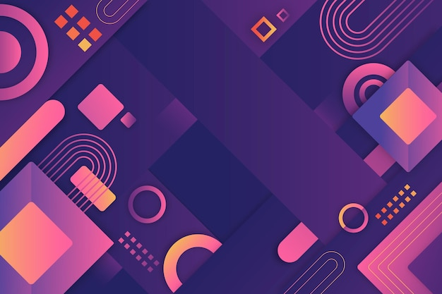 Geometric shapes gradient background