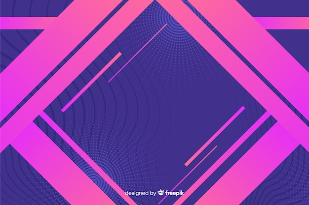Geometric shapes in gradient style
