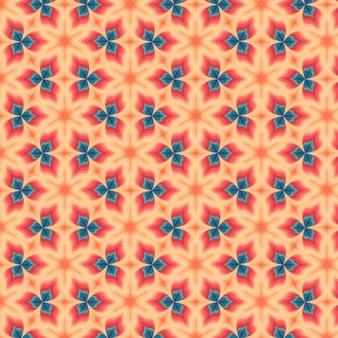 Geometric shapes groovy pattern