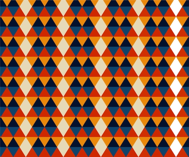 Geometric shapes groovy pattern