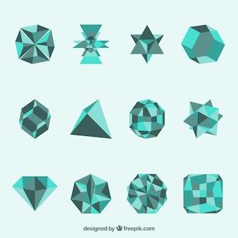 Геометрические фигуры в бирюзовый цвет