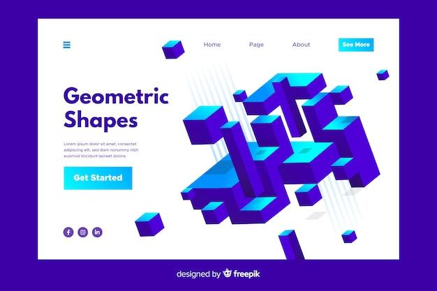 Geometric shapes landing page