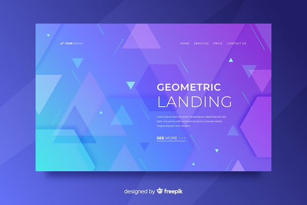Geometric shapes landing page