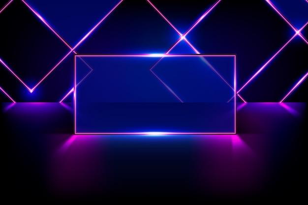 Геометрические фигуры неоновые огни фон