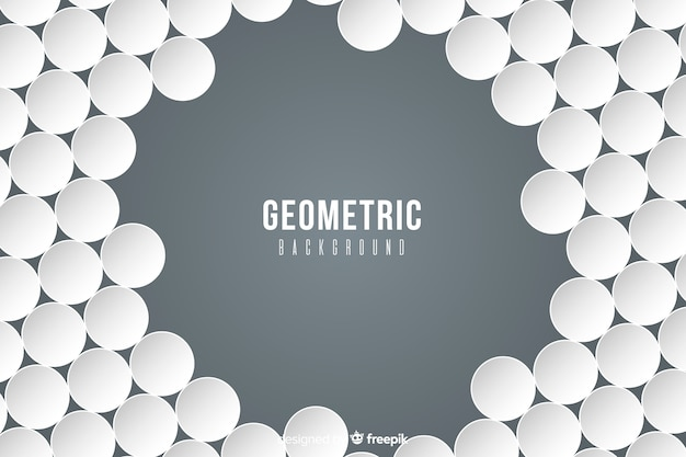 Geometric shapes in paper style