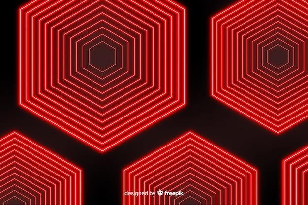 Sfondo di luci rosse di forme geometriche