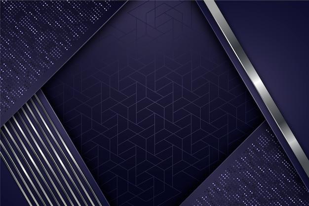 Geometric shapes screensaver realistic design