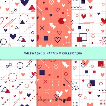 Geometric shapes valentine's day pattern pack