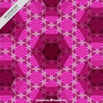 六角形の背景との幾何学的形状