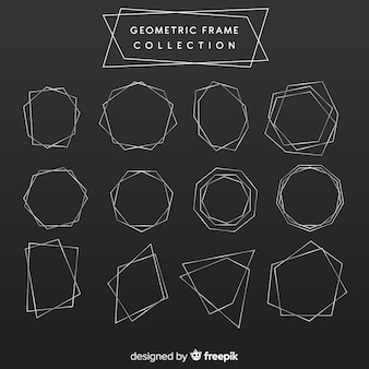 Geometric silver frame collection