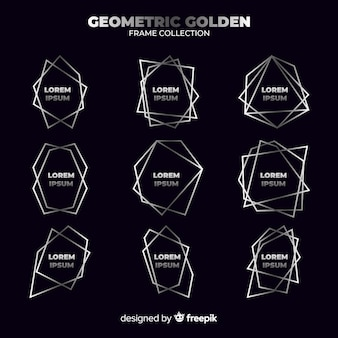 Geometric silver frame