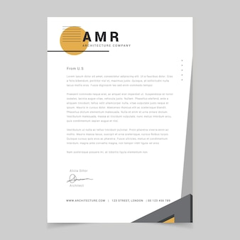 Geometric simple construction cover letter