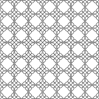 Geometric simple seamless pattern in east style
