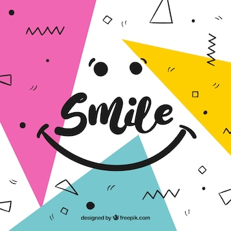 Geometric smile background