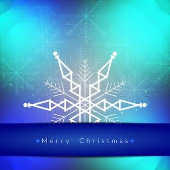 Geometric snowflake background