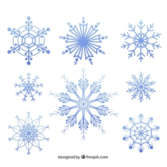 Geometric snowflakes pack
