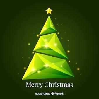 Geometric sparkling christmas tree
