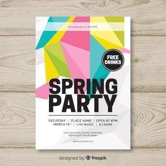 Плакат с геометрической весенней вечеринкой